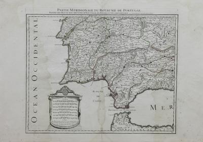 Partie Meridionale du Royaume de Portugal, les Royaumes de Elon et de Galice, Les Asturies, Partie des deux Castilles, etc. [material cartográfico] ]