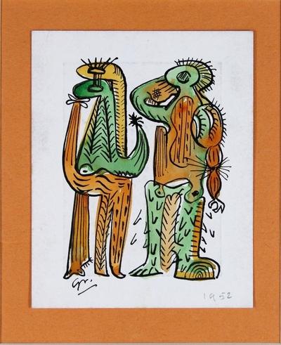 Hombres de la selva - Dibujo