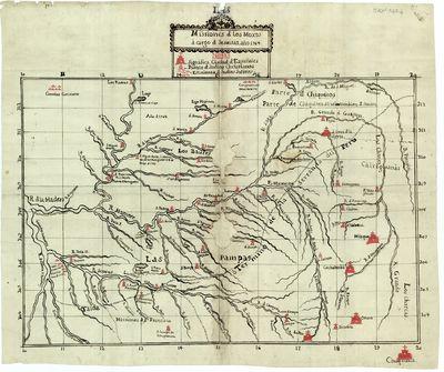Missiones [sic] d [sic] los Moxos a cargo d [sic] Jesuitas [Material cartográfico]
