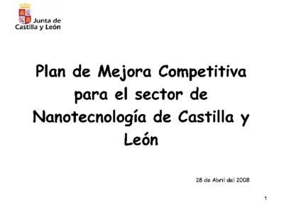 Plan de mejora competitiva para el sector de nanotecnología de Castilla y León