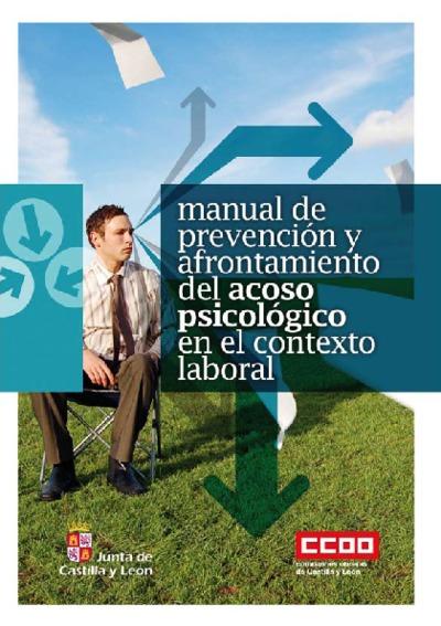 Manual de prevención y afrontamiento del acoso psicológico en el contexto laboral.