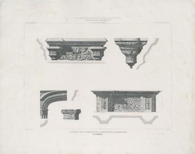Detalles de la portada de la Universidad salmantina (Salamanca) [Material gráfico]