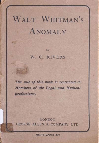 Walt Whitman's anomaly