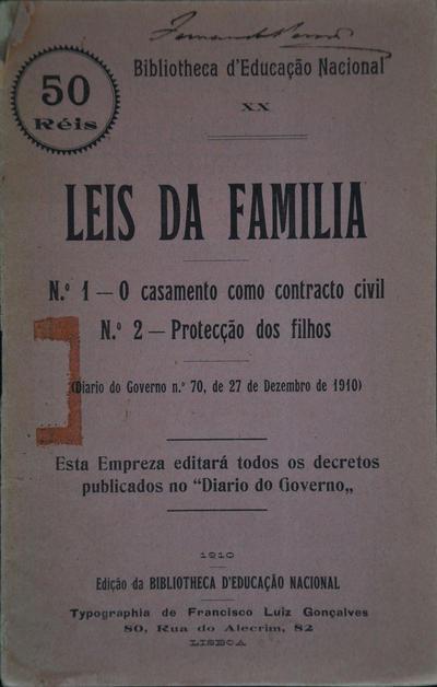 Leis da família