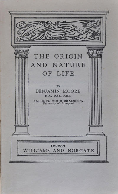 <The >origin and nature of life