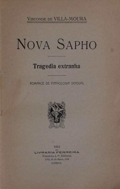 Nova Sapho: tragedia extranha