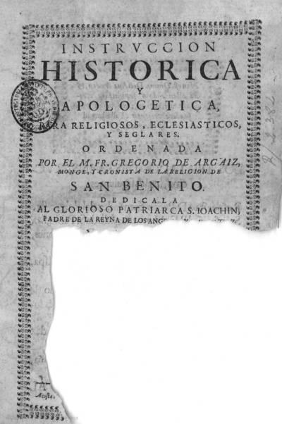 Instruccion historica y apologetica para religiosos, eclesiasticos, y seglares