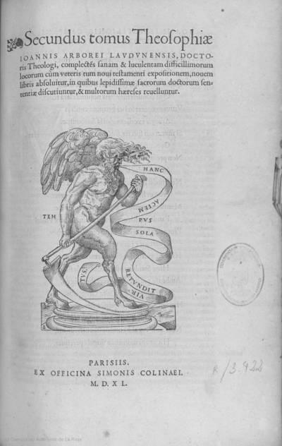 Secundvs tomus Theosophiae