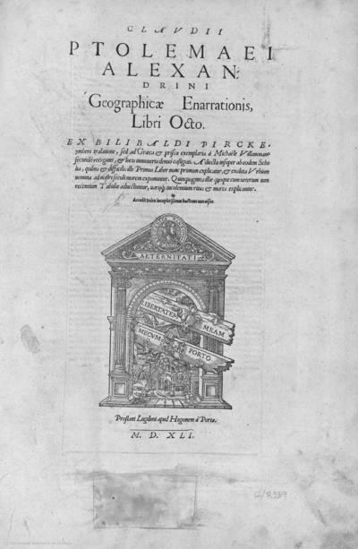 Claudii Ptolemaei Alexandrini Geographicae Enarrationis, libri octo