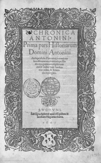 Chronica Antonini : prima pars Historiarum