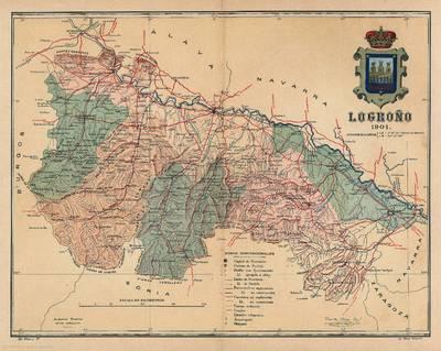 Logroño [provincia] [Material cartográfico] : 1901