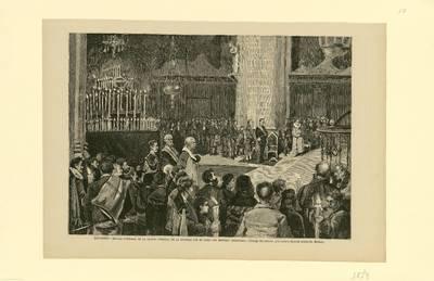 Logroño, honras fúnebres en la Iglesia de la Redonda por el alma del general Espartero [Material gráfico]
