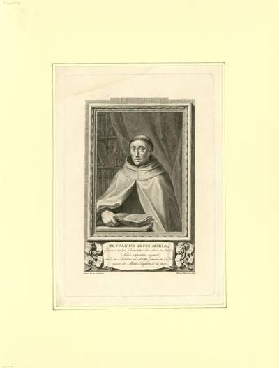 Fr. Juan de Jesus Maria [Material gráfico] : general de los carmelitas descalzos en Italia...