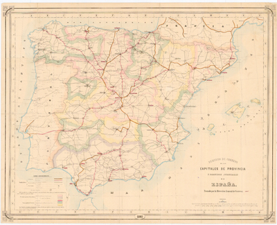Servicio de correos de las capitales de provincia y partidos judiciales de España