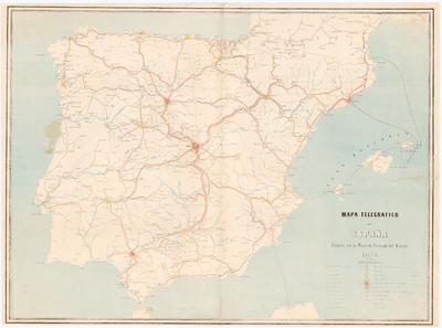 Mapa Telegrafico de España