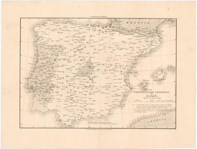 Triangulacion Geodésica de España : Estado en 1o. de Enero de 1864