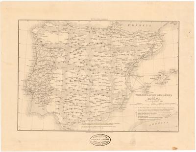 Triangulacion Geodésica de España : Estado en 30 de Setbre. 1865