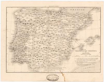 Triangulacion Geodésica de España : Estado en 1° de Setbre. 1866