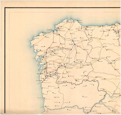 Mapa de España con las carreteras del Estado y provinciales