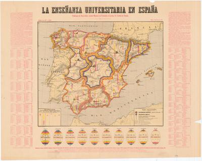 La Enseñanza Universitaria en España : Curso de 1877 a 1878 : Publicase de Real órden, siendo Ministro de Fomento el Excmo. Sr. Conde de Moreno
