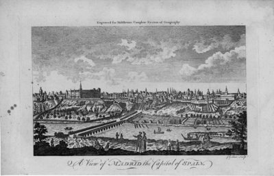 A view of Madrid the Capital of Spain [Material gráfico]engraved for Middletons Complete System of Geography