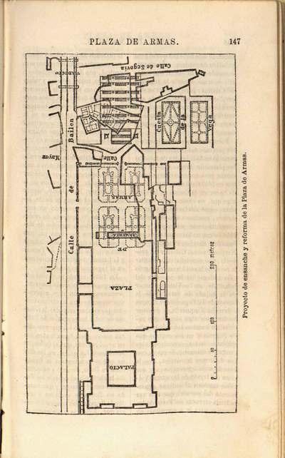 Proyecto de ensanche y reforma de la Plaza de Armas [Material cartográfico] : [plano]