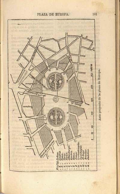 Anteproyecto de la plaza de Europa [Material cartográfico] : [plano]