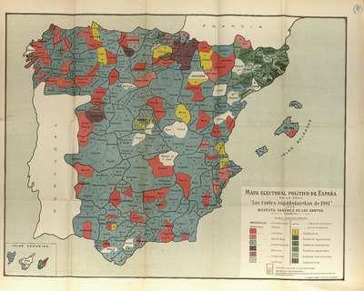 Las Cortes Españolas : las de 1.907