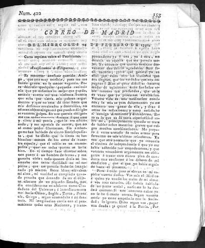 Correo de Madrid (ó de los ciegos) : obra periódica en que se publican rasgos de varia literatura, noticias y los escritos de toda especie que se dirigen al editor