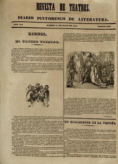 Revista de teatros : diario pintoresco de literatura