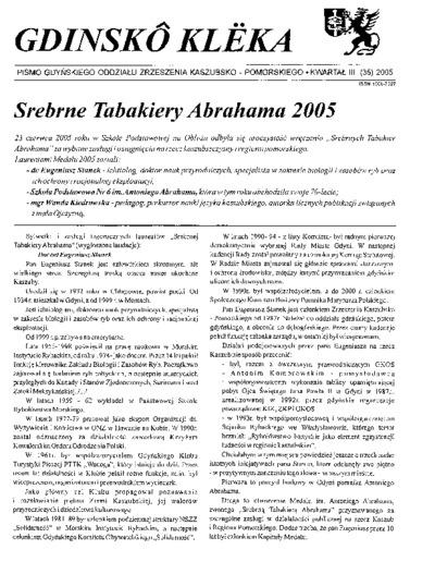 Gdinskô Klëka : biuletyn Gdyńskiego Oddziału Zrzeszenia Kaszubsko-Pomorskiego Kwartał III Nr (35) 2005