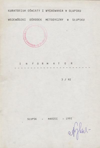 Informator, 1992, nr 3