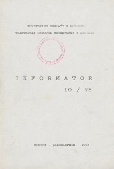 Informator, 1992, nr 10