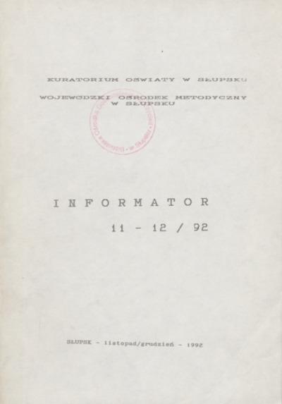 Informator, 1992, nr 11/12