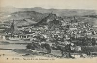 Le Puy.-Vue prise depuis la côte Rochearnaud