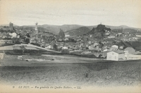 Le Puy.-Vue générale des Quatre Rochers