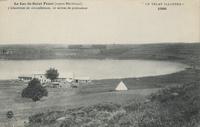 Le Lac de Saint-Front (aspect méridional). 3 kilomètres de circonférence, 10 mètres de profondeur