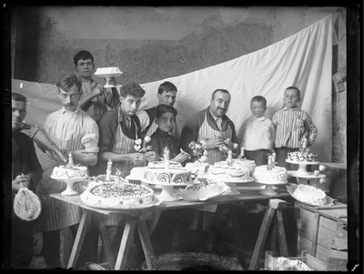 Retrato de trabajadores de una pastelería