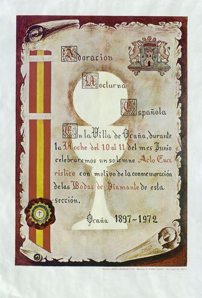 Adoración nocturna española [ [Material gráfico]: Ocaña, durante la noche del 10 al 11 de junio.