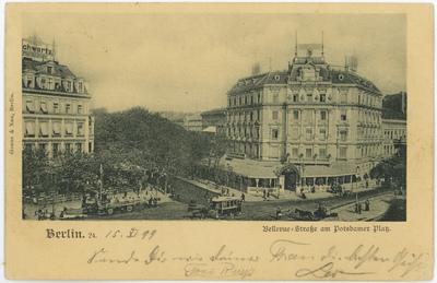 Berlin. Bellevue-Straße am Potsdamer Platz