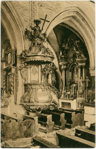 Thorn. St. Jacob. Blick auf die Kanzel