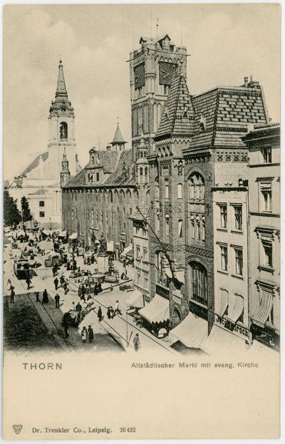 Thorn. Altstädtischer Markt mit evang. Kirche