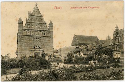Thorn. Reichsbank mit Umgebung
