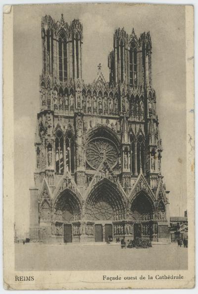 Reims. Façade ouest de la Cathédrale