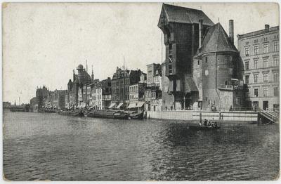 Danzig. Langebrücke mit Krantor