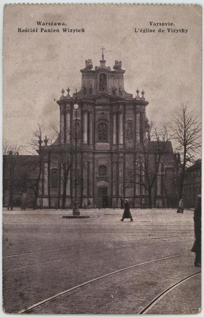 Varsovie. L'église de Vizytky