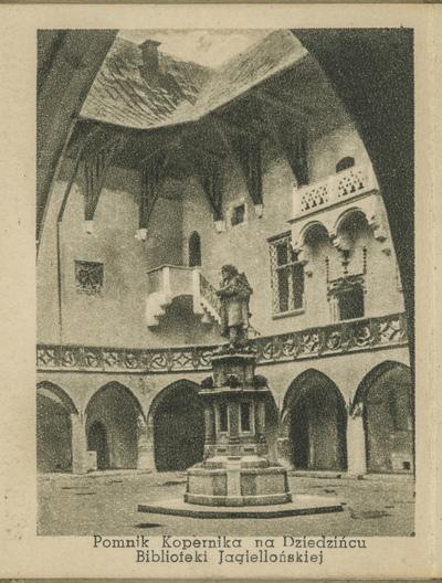 Pomnik Kopernika na Dziedzińcu Biblioteki Jagiellońskiej