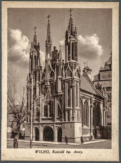Wilno. Kościół św. Anny