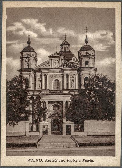Wilno. Kościół św. Piotra i Pawła
