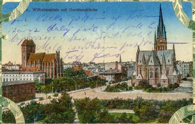 Thorn. Wilhelmplatz mit Garnisonkirche